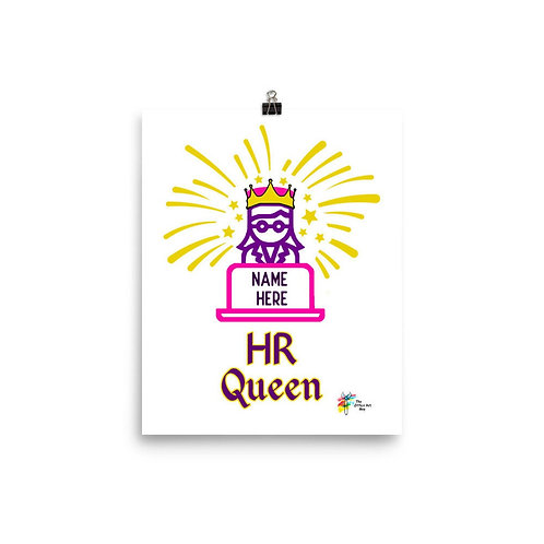 Human Resources Art Print HR Queen