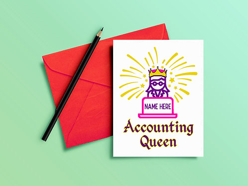 Accounting Queen Card for Accountant
