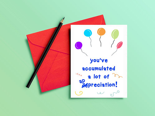 Thank You Card for Accountant - Accumulated Appreciation