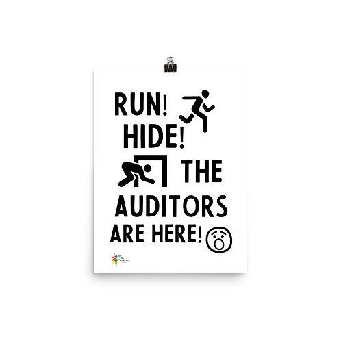 Funny Auditor Art Print