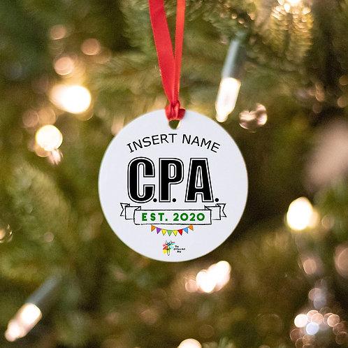 CPA Ornament Certified Public Accountant