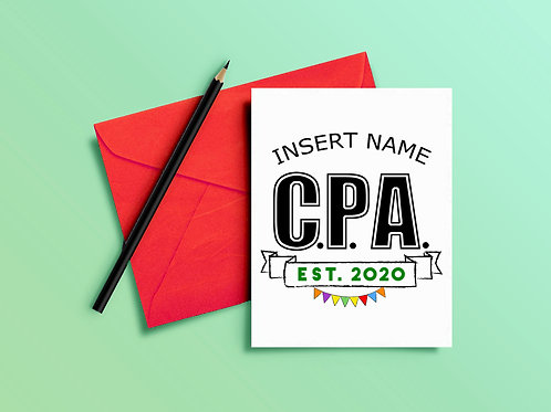 CPA Congratulations Card