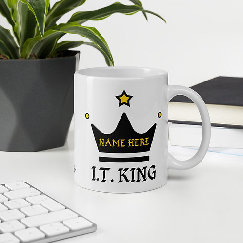 Information Technology Mug I.T. King