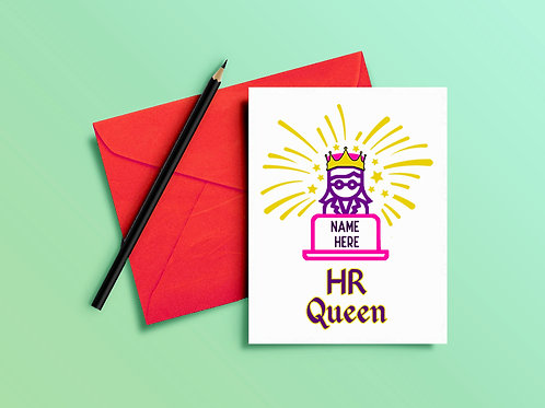 Human Resources Card HR Queen