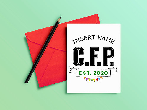CFP Congratulations Card for Certified Financial Planner