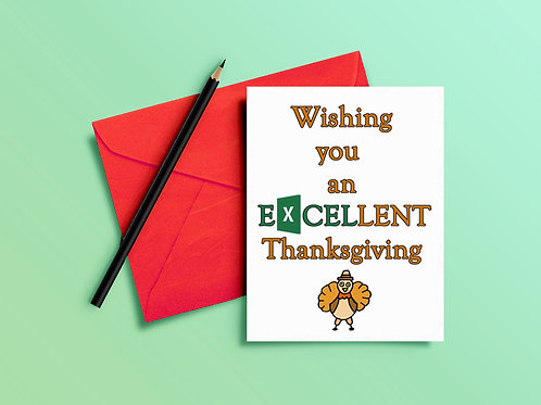 Thanksgiving Card for Staff, Clients, Coworkers