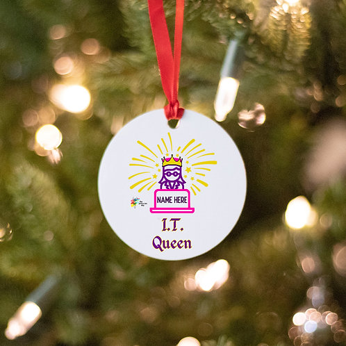 Information Technology Ornament I.T. Queen
