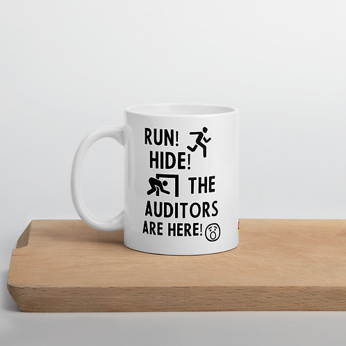 Auditor Mug - Run, Hide