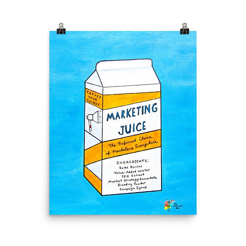 Marketing Juice Art Print for Marketing Office Decor