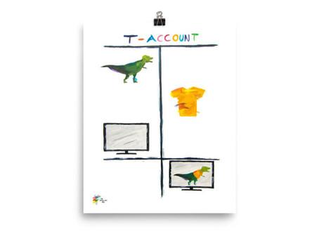 Accountant Art - T-Rex T-Account