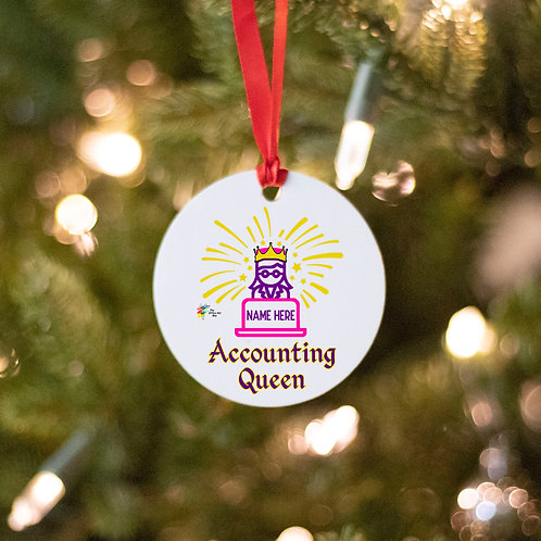 Accounting Queen Ornament Gift