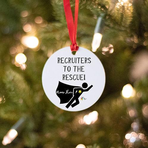 Recruiter Ornament Gift Superhero