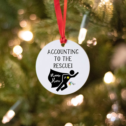 Accountant Ornament Superhero
