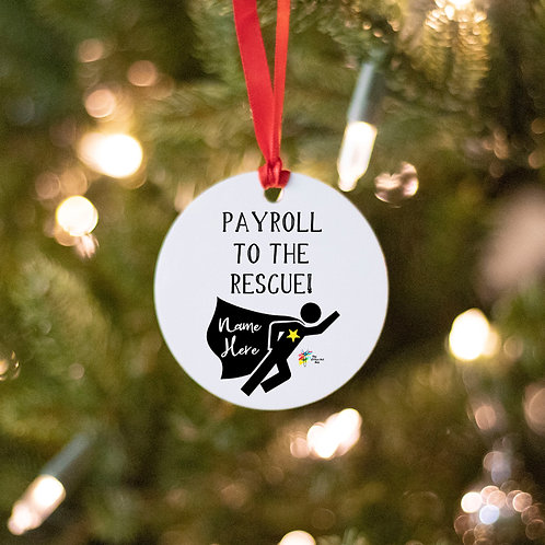 Payroll Ornament Superhero