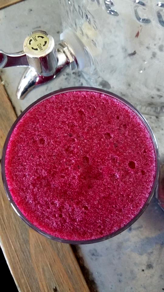 Beetroot strawberry juice