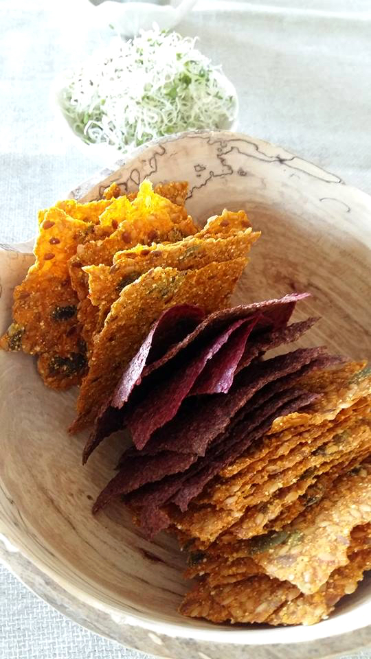 Autumn raw crackers