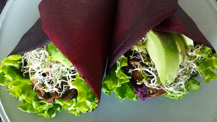Beetroot wrap