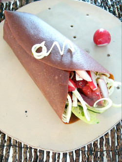 Rolled Strawberry wrap