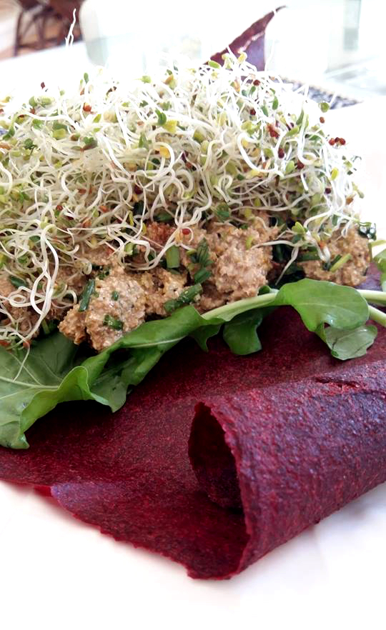 Beetroot wrap