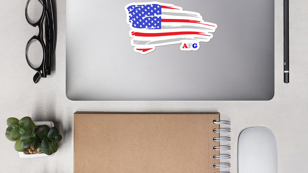"AFG Bubble-free sticker ""DISTRESSED FLAG"""