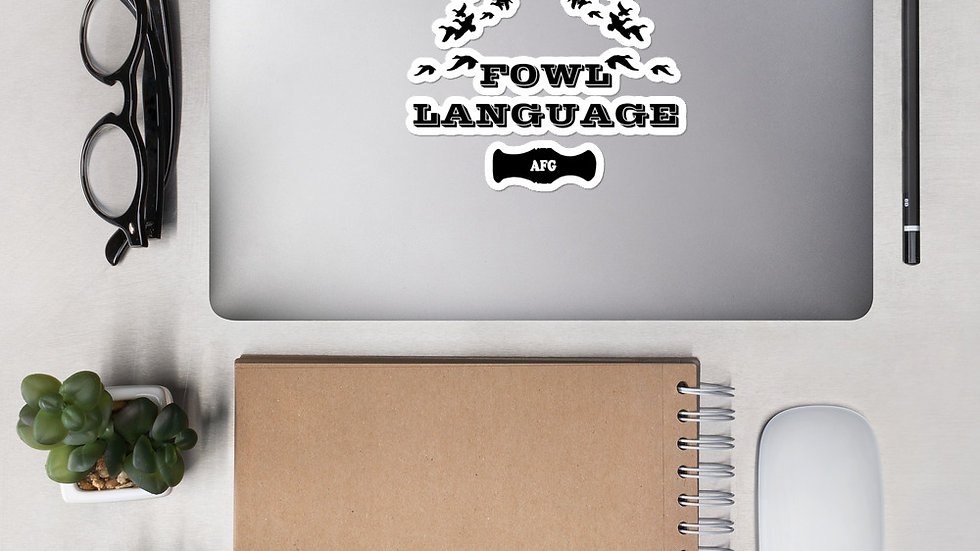 "AFG Bubble-free sticker ""FOWL LANGUAGE"""