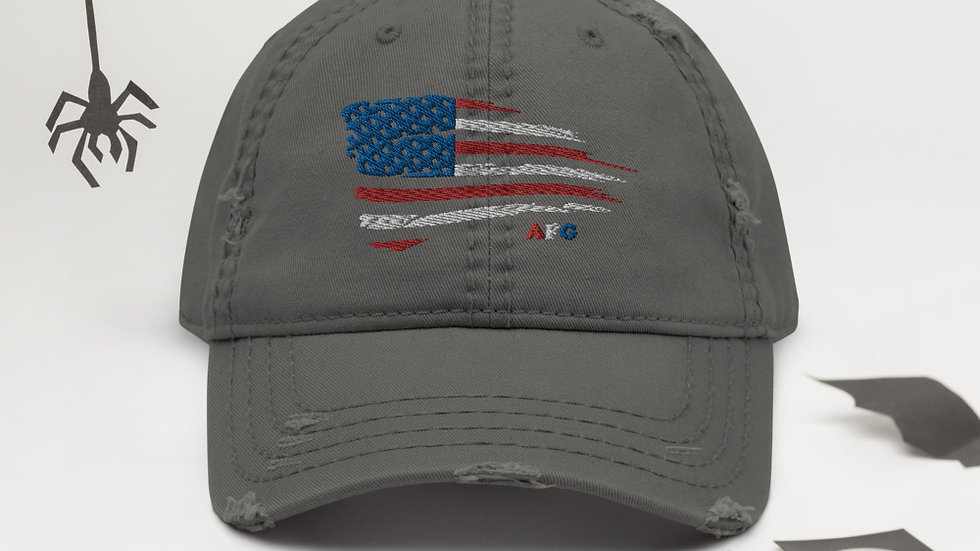 """AFG Distressed Dad Hat """"RED/WHITE/BLUE"""""""