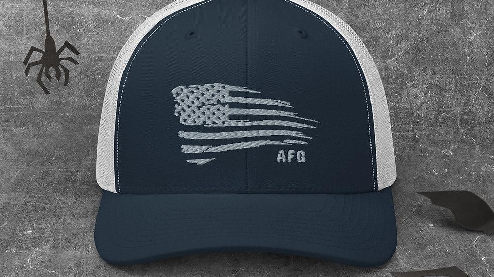 Distressed Flag Trucker Cap