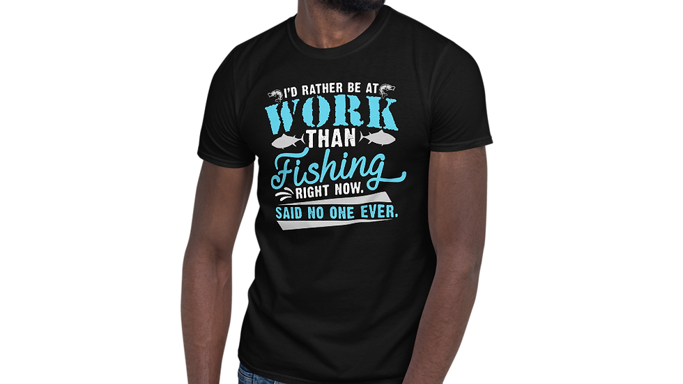 "AFG Short-Sleeve Unisex T-Shirt ""I'D RATHER BE WORKING"""