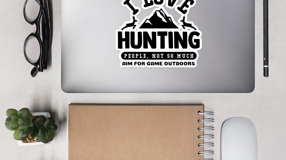 """AFG Bubble-free sticker """"I LOVE HUNTING"""""""