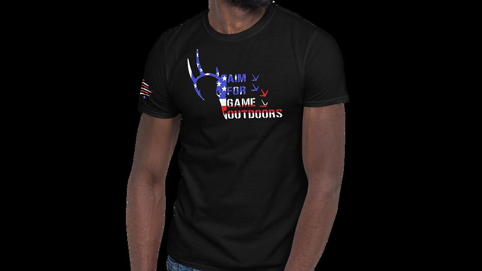 "AFG Short-Sleeve Unisex T-Shirt ""RED-WHITE-BLUE"""