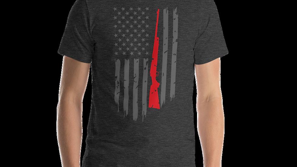 """Short-Sleeve AFG """"DISTRESSED RIFLE FLAG"""" Unisex T-Shirt"""