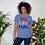 "Thumbnail: Short-Sleeve ""RED,WINE,BLUE"" T-Shirt"