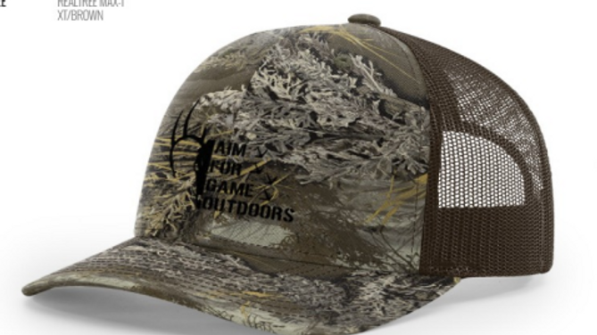 Richardson 112P Realtree Max-1 Camouflage Trucker Hat w/AFG Embroidered Logo