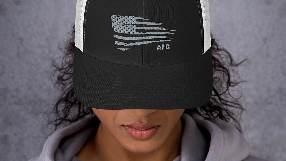 Distressed Flag Trucker Cap