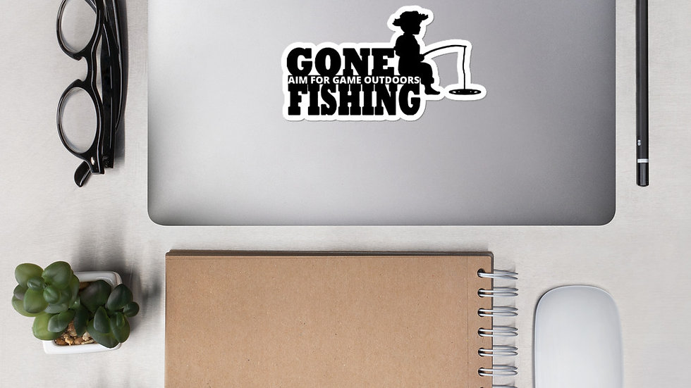 "AFG Bubble-free sticker ""GONE FISHING"""