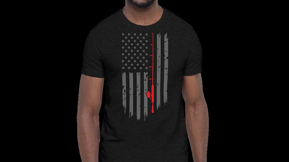 """Short-Sleeve AFG """"DISTRESSED FISHING FLAG"""" Unisex T-Shirt"""