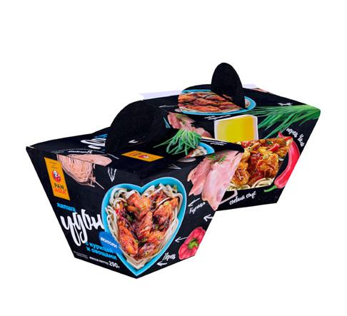 Удон с курицей и овощами в соусе Якитори