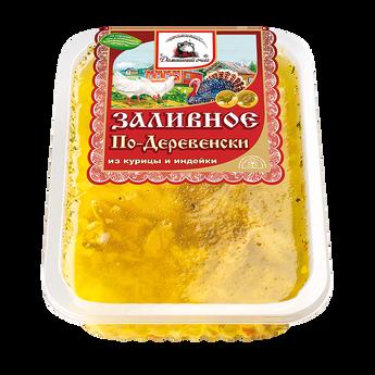 """Заливное """"По-Деревенски"""" из мяса птицы. Домашний очаг."""