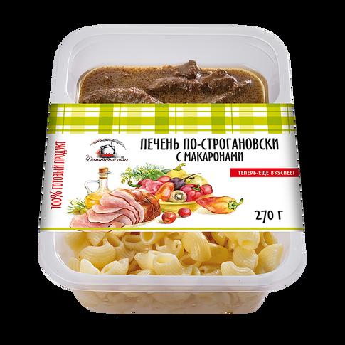 """Печень """"по-строгановски"""" с макаронами. Домашний очаг."""