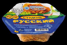 """Студень """"Русский"""" из говядины и свинины. Хрустальная снежинка."""