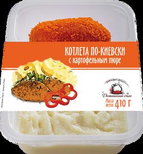 Котлета по-киевски с картофельным пюре.p