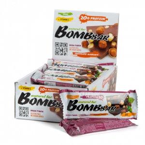 Протеиновый батончик Bombbar шоколад фундук