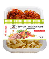 Тефтели в томатном соусе с макаронами. Домашний очаг.