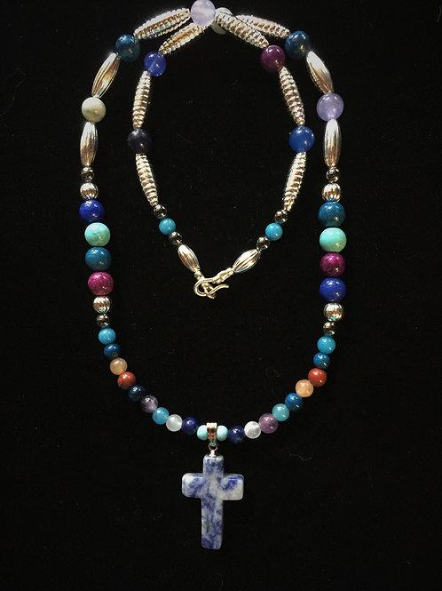 Blue Sodalite Cross (Divine Revelation)