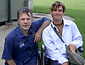Nathan Doidge, most disabled pilot, with Iron Maiden's Bruce Dickinson