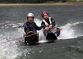 Nathan Doidge, most disabled pilot, waterskiing