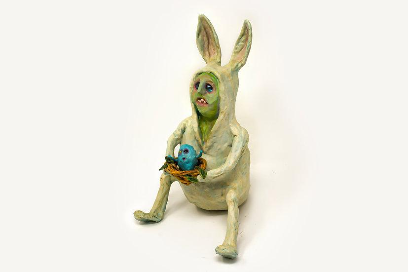Egg, Bert Rabbit Sculpture