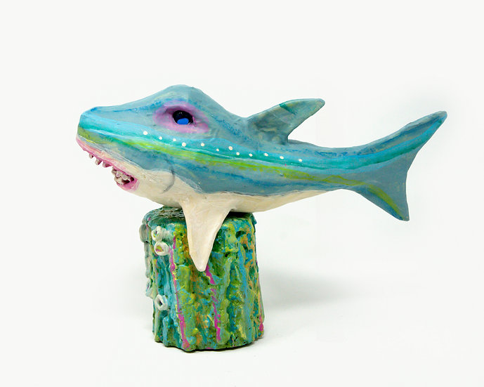 Spiro the Shark Sculpture