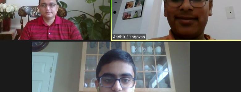 Asad and Aadhik, Montgomery Village Middle School