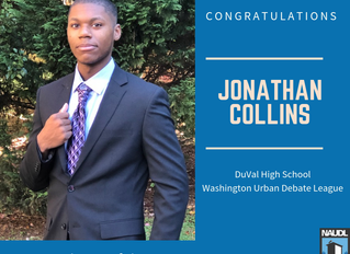 WUDL Student Jonathan Collins Named Urban Debater of the Year!